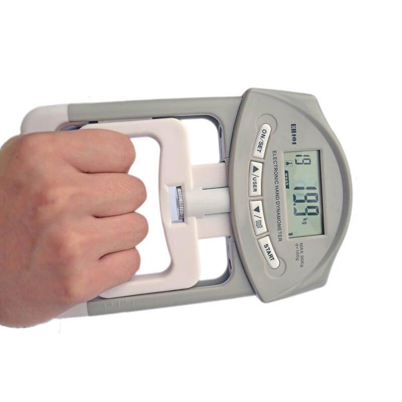 Eletrônico da Mão de Digitas Apertos da Mão do Prendedor Fortalece o Medidor de Medição Captura a Potência Dinamômetro Que Conta Automático 90 kg – 200lbs