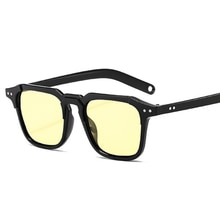 2020 Brand High-quality New Splicing Meter Nail Square Sunglasses Fashion Men Hip Hop Glasses Retro