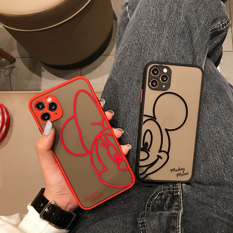 2021Disney original for iPhone 6Plus/XS/XR/XS Max 11/11 Pro / Max/12/12pro/12min12promax Minnie Mickey Phone Case cover Liquid  - buy with discount