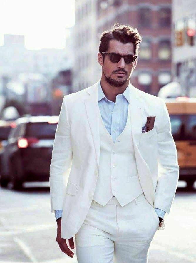 بدلة رجالية بيضاء ، بدلة Peaky Blinders ، بدلة رجالية مع طية صدر السترة ، بدلة رجالية من ثلاث قطع (جاكيت وسروال سترة)