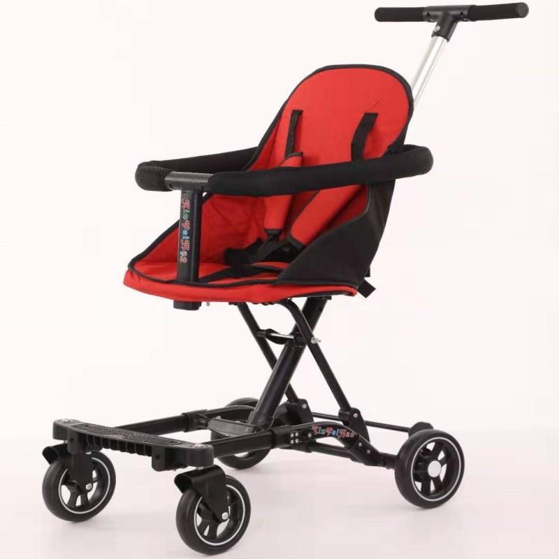 عربة أطفال بأربع عجلات قابلة للطي محمولة ثلاثية العجلات للأطفال موديل 2020 مشاية للأطفال