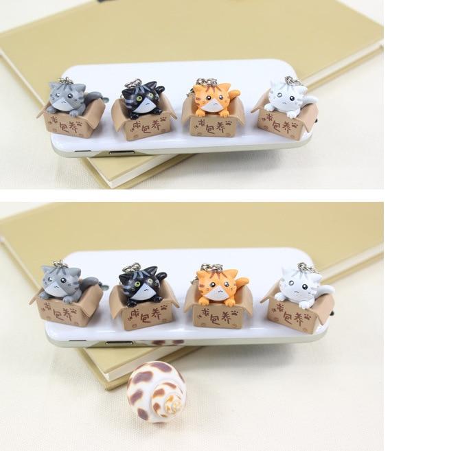Поиск питомцев в стиле кошки 3,5 мм, милый дизайн мультяшного кота, мобильный телефон, заглушка от пыли для Iphone Samsung, заглушка от пыли-2