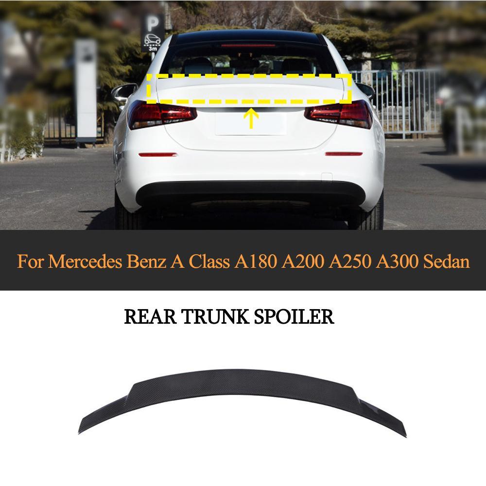 Alerón trasero de coche W177 para mercedes-benz Clase A W177 A260 A45 AMG 2019 - 2020 alerón trasero maletero tapa de fibra de carbono