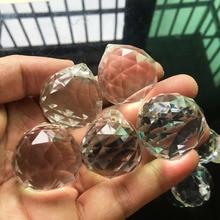 5 pièces 30mm lustre boule de cristal à facettes verre boule de cristal prisme Suncatcher pendentif boules suspendues décor à la maison