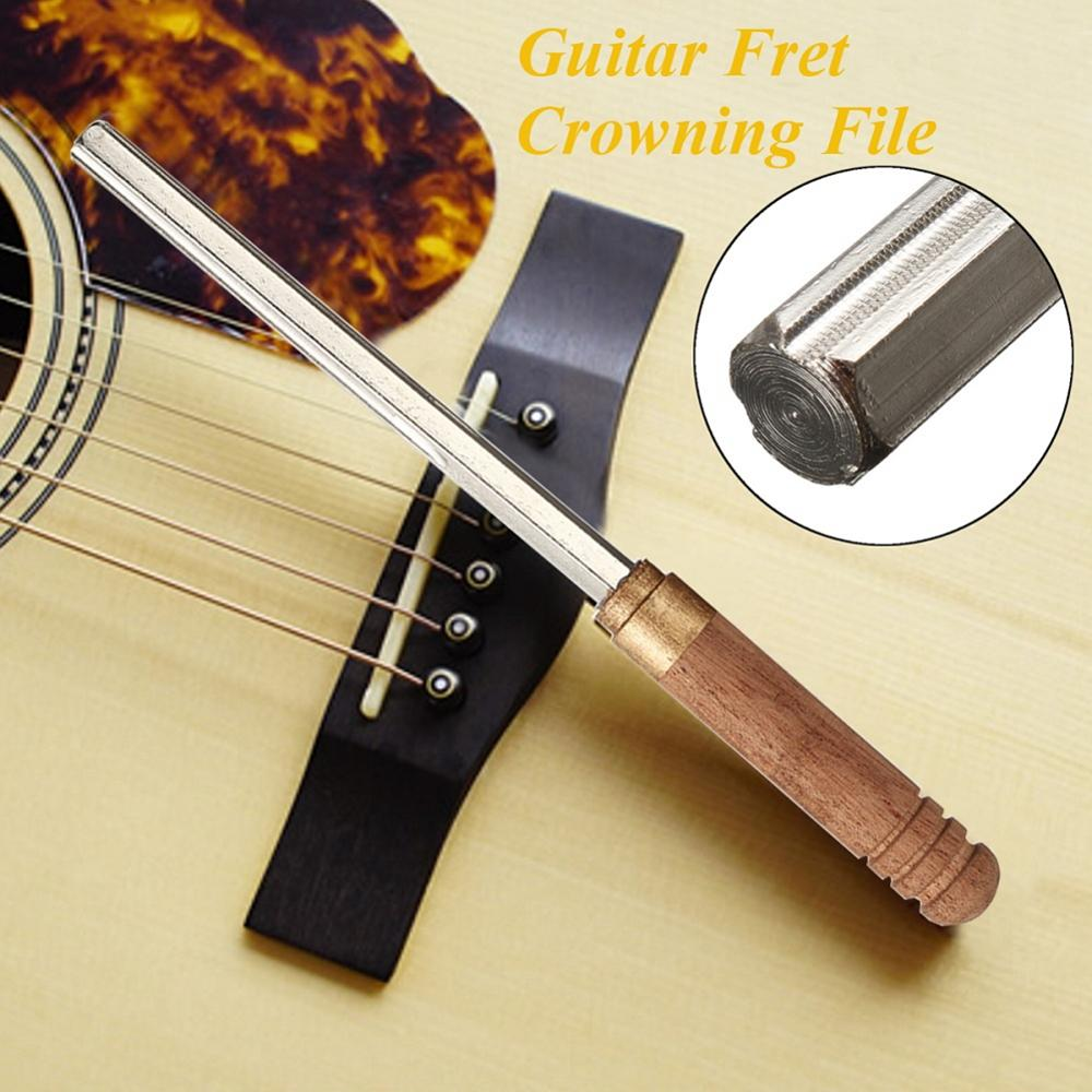Muspor 3 in 1 Guitar Frets Nuts Polished Crowning File Luthier Burnish Sanding Leveling Tool Stainless Steel Guitar Repair Tools enlarge
