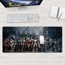 Iron Man Movie 30x70cm stark industries Unique Desktop Pad Game Mousepad  Large Mouse Pad Keyboards Mat