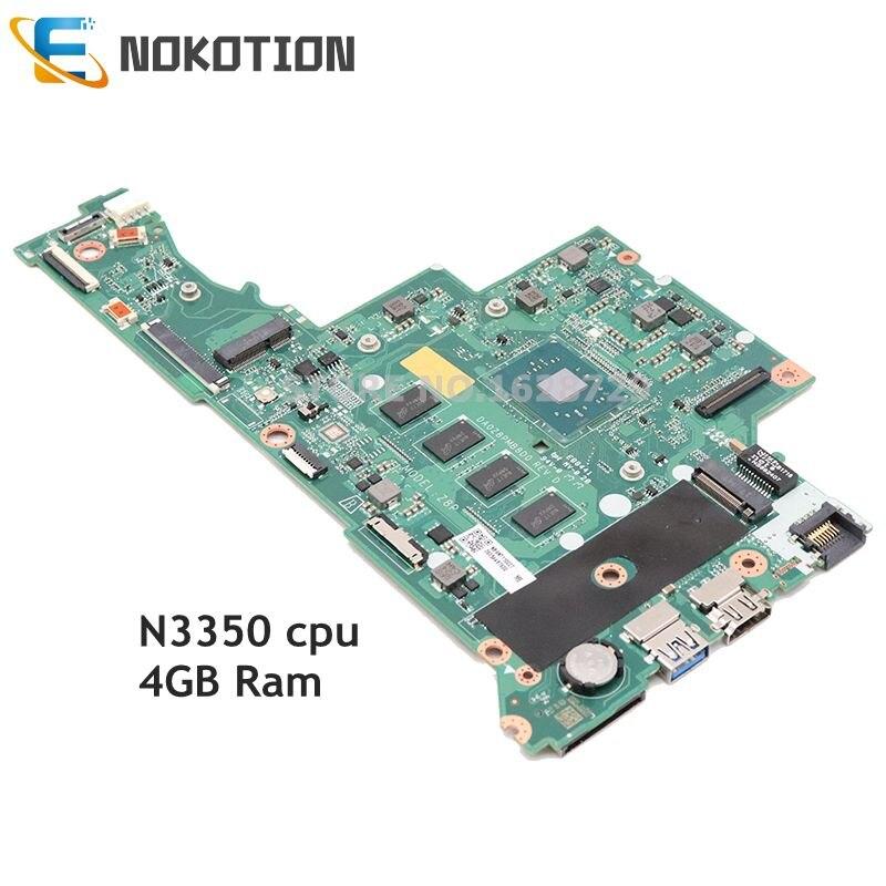 NOKOTION para acer Aspire 3 A315-51 A314 A315 placa base de computadora portátil SR2Z7 N3350 4g Ram 64G SSD NBGNT11002 NBGNT110027 DA0Z8PMB8D0