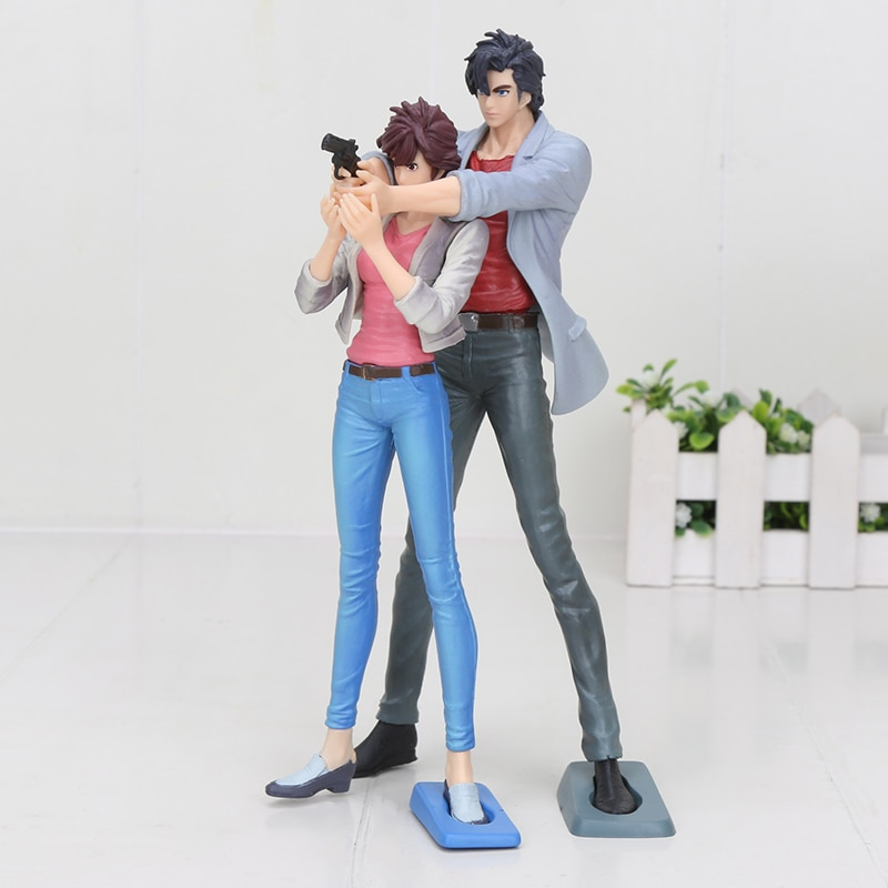 18-20cm Anime ciudad cazador creador X creador ciudad Hunter Ryo Saeba Kaori Makimura figura modelo muñecas de juguete
