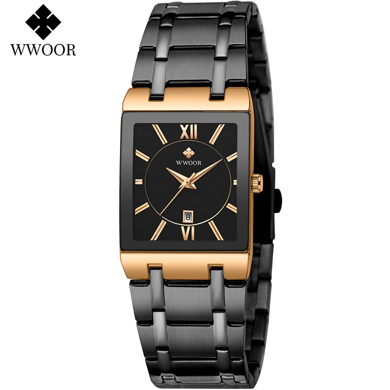 WWOOR New Fashion Ladies Watch Luxury Brand Ladies Square Wrist Watch Minimalist Analog Quartz Women's Casual Watch Montre Homme enlarge