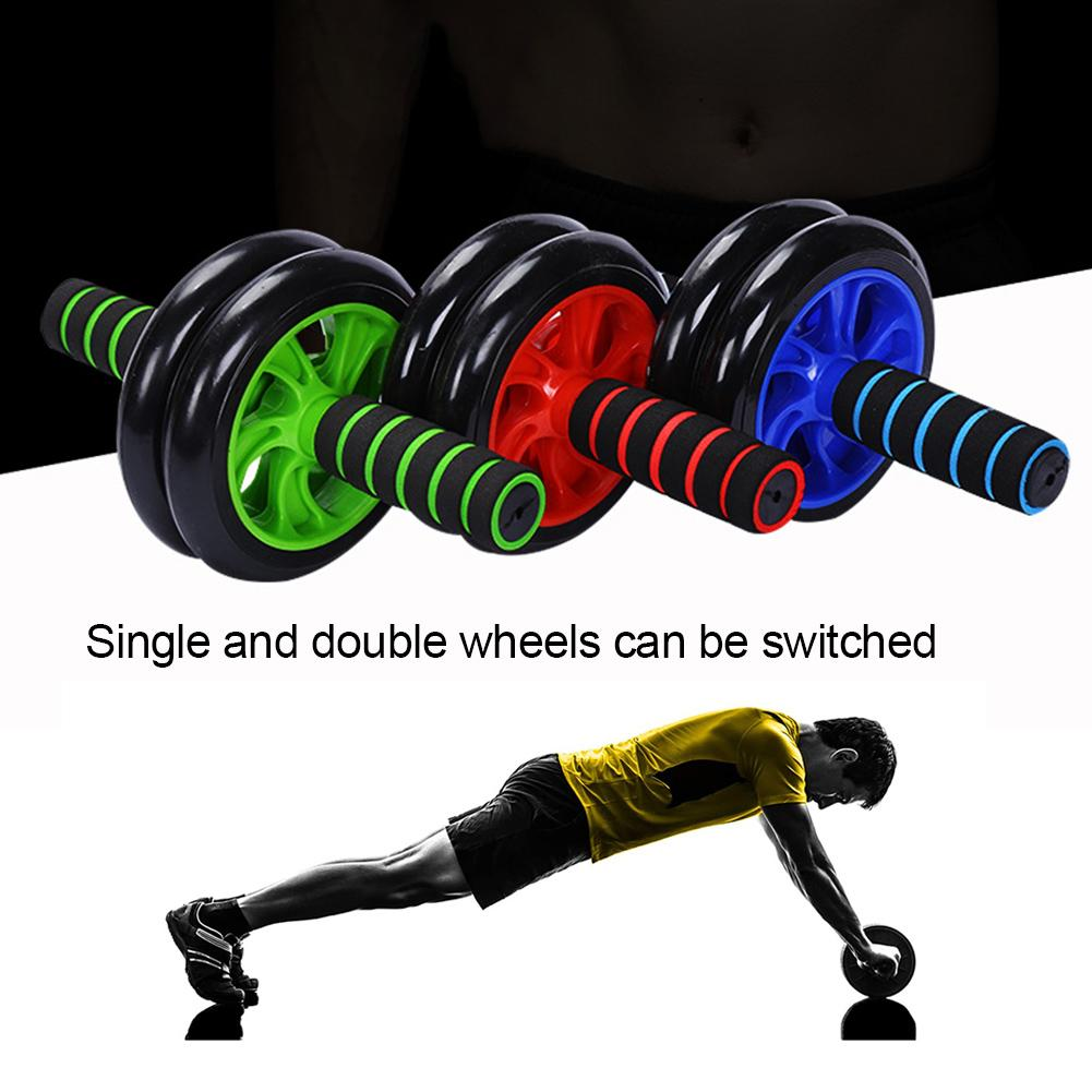 Two-wheeled mute abdominal wheel home indoor fitness equipment abdominal muscle wheel thin stomach abdominal wheel roller unisex