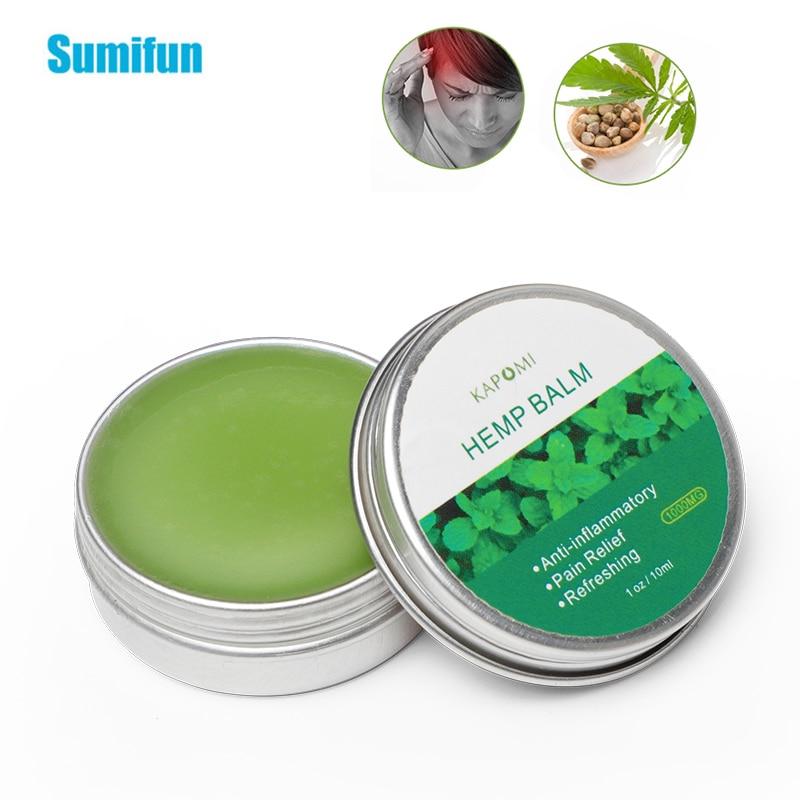 1pcs Hemp Balm Cream Anti-Inflammation Relieve Pain Hemp Extract Ointment Back Muscle Arthritis Pain Relief Health Care P0095 недорого