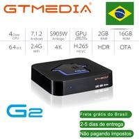 Приставка Смарт-ТВ GTMEDIA G2, 4K, HDR, Android 7,1, 2 + 16 ГБ, Wi-Fi