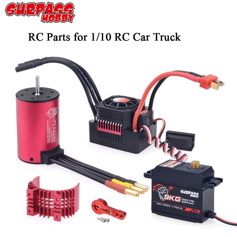 SURPASS HOBBY 1/10 RC Parts Waterproof 3660 3650 F540 Brushless Motor w/Heat Sink 45A 60A 80A ESC 6K