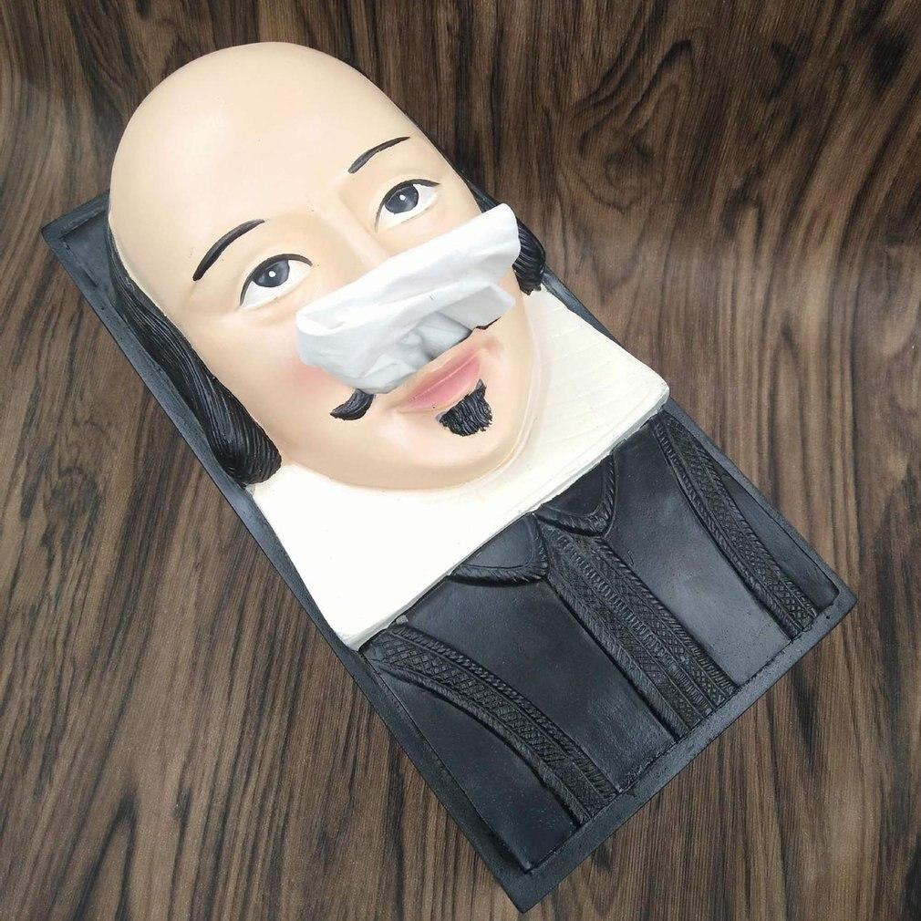 Creativo retrato de piedra de Pascua caja de papel toalla caja novedad decoración del hogar