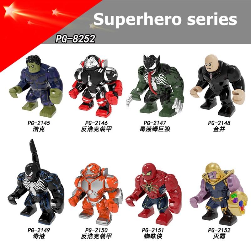 Marvel Avengers Venom Hulk Hulk Stone Man Korg Spiderman Thanos Toy Building Block Action Assembling