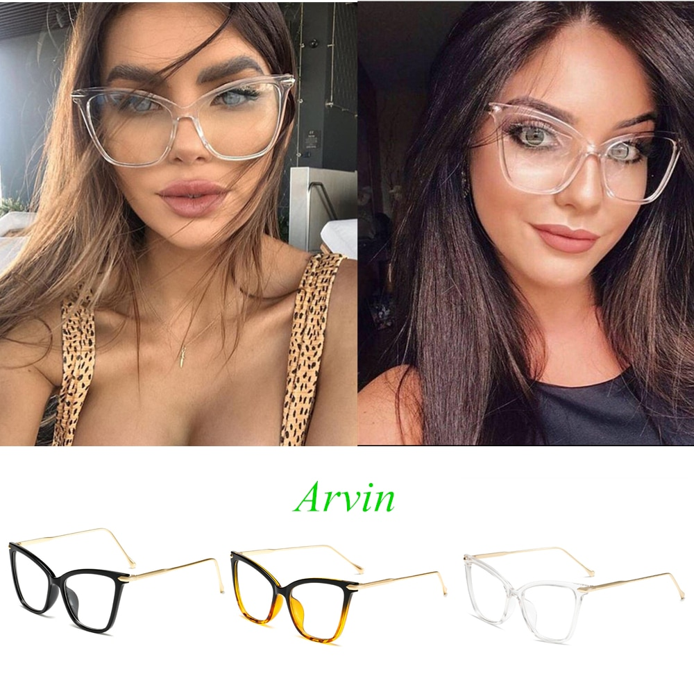 Arvin 2020 New Women's Cat Eye Sunglasses Vintage Large Frame Metal Glasses Fashion Accessories Sun Glasses Lentes De Sol Mujer
