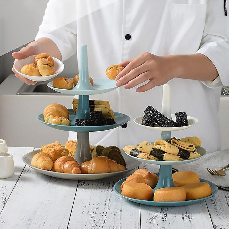 Soporte de 3 niveles para aperitivos y postres, juego de platos de lujo, soporte de platos para pasteles, plato para pan, platos de boda, Bandejas para servir