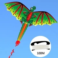 kids cute vivid 3d dinosaur kite flying game outdoor sport playing toy with 100m line kites kid outdoor toys kite flying game