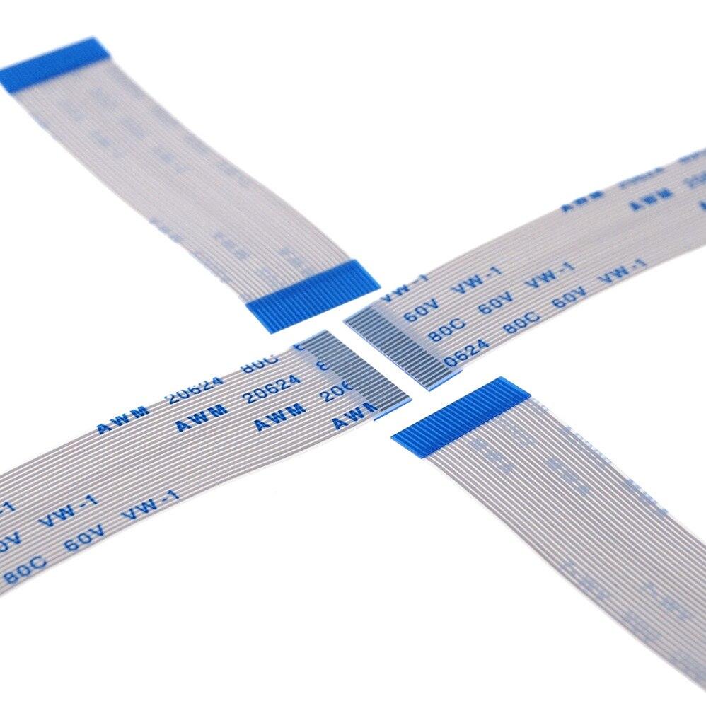 1000 قطعة/الوحدة FFC/الشركة العامة للفوسفات مرنة شقة كابل 0.5 مللي متر الملعب 24 دبوس 200 مللي متر الخواص AWM 20624 نفس ينتهي