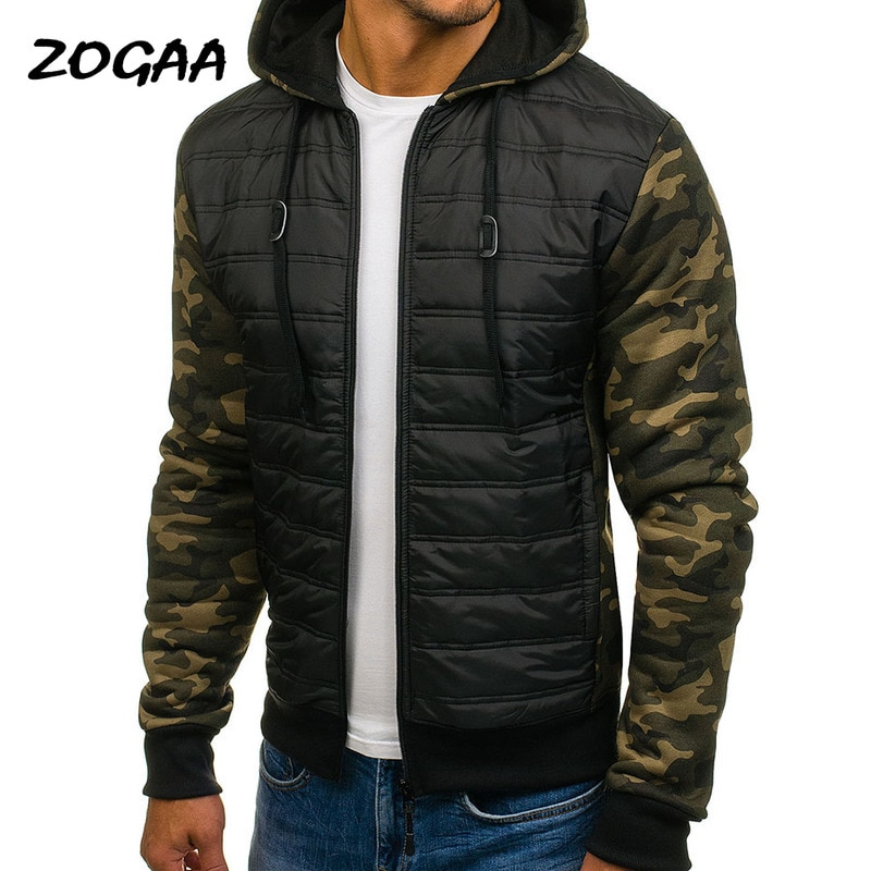 Мужские парки ZOGAA, военные камуфляжные куртки с капюшоном, теплые хлопковые парки, Мужская Повседневная ветровка, модные мужские пальто