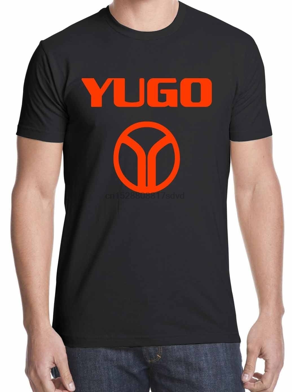 YUGO Cool Retro 1980 logotipo camiseta envío gratis S-2XL100% e tela