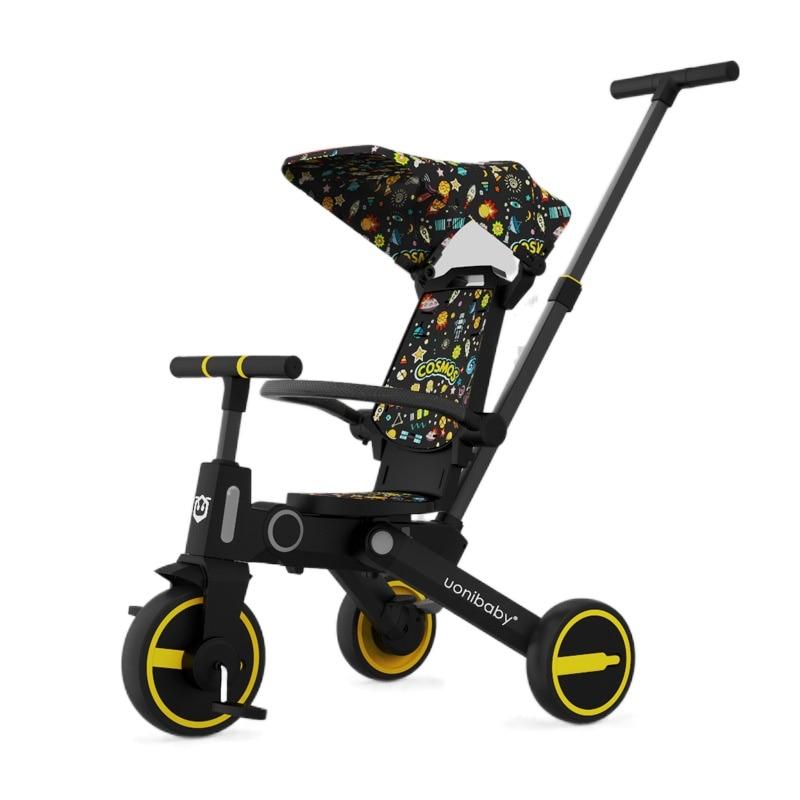 عربة أطفال ثلاثية العجلات للأطفال ، عربة أطفال ثلاثية العجلات 5 في 1 ، جهاز قابل للطي في اتجاهين