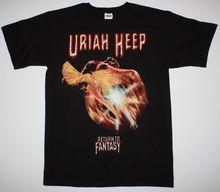 URIAH HEEP retour à fantaisie noir T-Shirt STYX NAZARETH HARD ROCK violet profond col rond T-Shirt