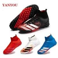 yanyou 2021 unisex high ankle turf football shoes mens long spike socks original mens football shoes splint training sneakers