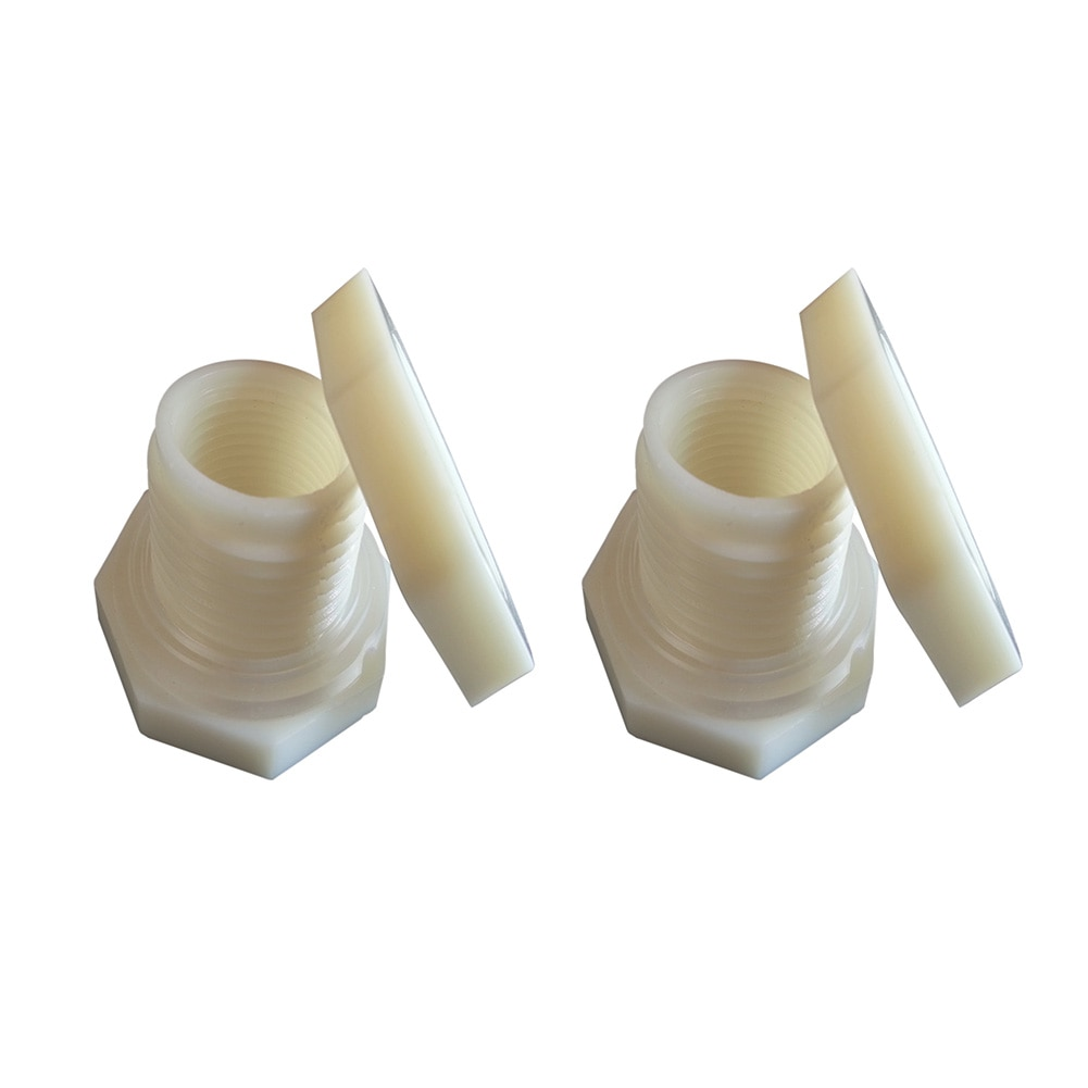 Junta de goma gruesa de 3mm, ABS, Lluvia Sólida, invertida, roscada para acuarios, Conector de montaje de mamparo Universal, tanque de agua