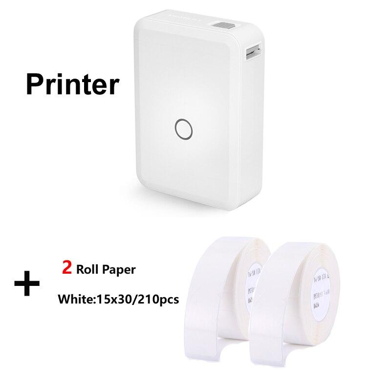 طابعة حرارية لاسلكية مزودة بتقنية البلوتوث محمولة لصانع ملصقات الجيب لهواتف أندرويد وآيفون والمنزل والمكتب