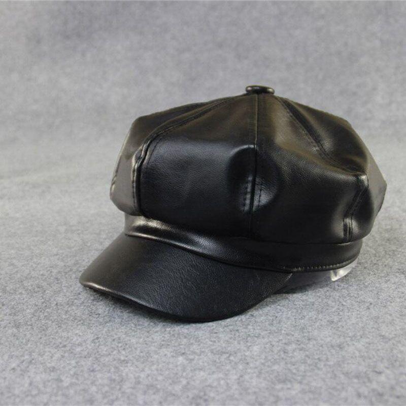 2021 новые качественные летние комплекты одежды модный художник PU женские береты шляпа для женская меховая шапка, женская шапка повседневное...