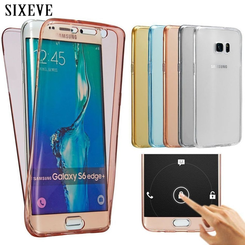 Carcasa transparente de silicona suave de cuerpo completo para Samsung Galaxy J3, J5, J7 Prime Pro 360, 2015, 2016, J4, J6, J8, 2017, J7, Neo, Nxt, 2018