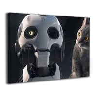 love death robots abstract canvas print wall art for bedroom living room framed decor home decor