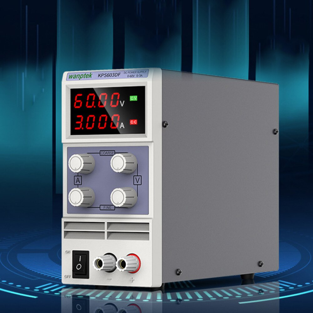 KPS603DF قابل للتعديل عالية الدقة تيار مستمر امدادات الطاقة الناتج 0-60 فولت 0-3A AC110/220 فولت