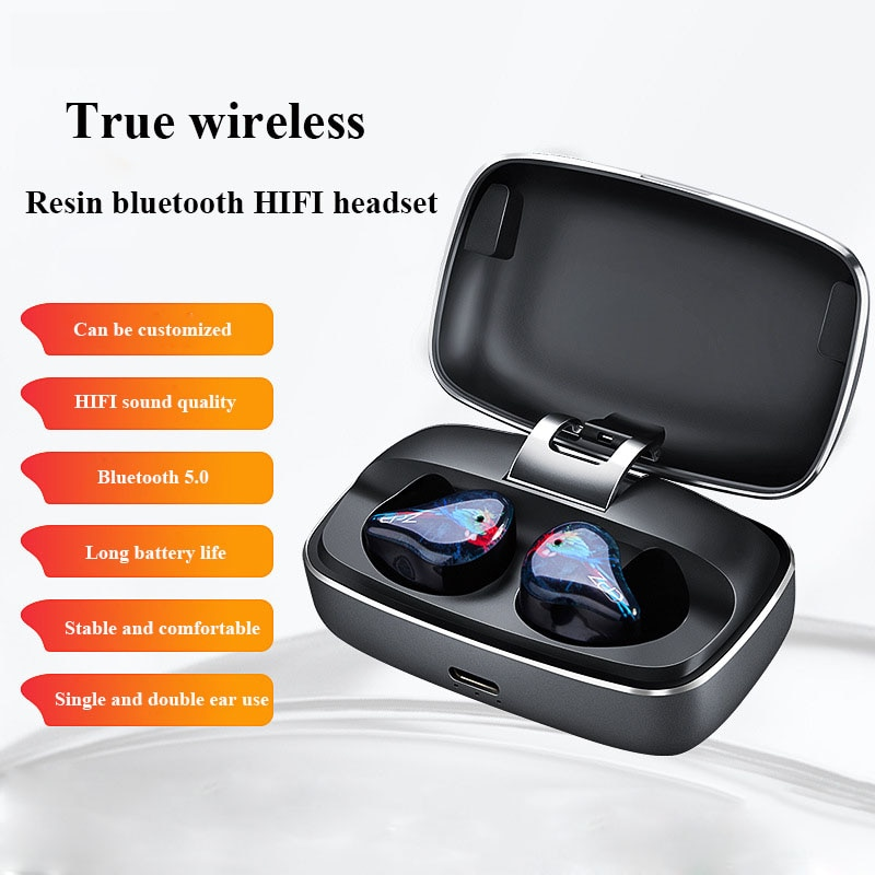 في الأذن صحيح سماعة لاسلكية تعمل بالبلوتوث 5.0 سماعة في الأذن الرياضة الثقيلة باس مقاوم للماء TWS الحد من الضوضاء HIFI سماعات الأذن
