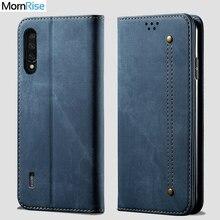 Pour XiaoMi MI 9 lite portefeuille étui magnétique livre Folio couverture à rabat pour Xaomi MI 9 Pro 5G Denim sacs en cuir béquille porte-carte