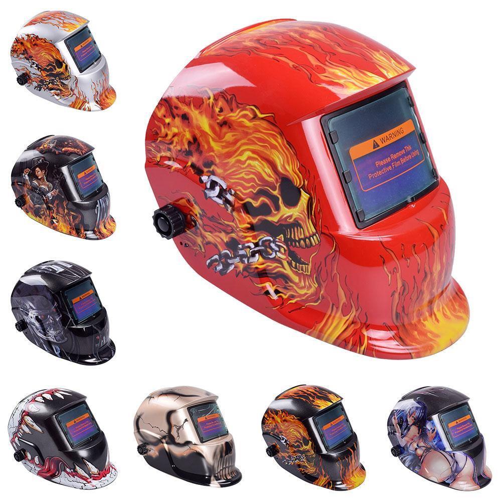 Сварочная маска TIG MIG, автоматическая сварочная маска-хамелеон с автоматическим затемнением, питание от солнечных батарей, DIN4/5-13 сварочная маска зубр 11075