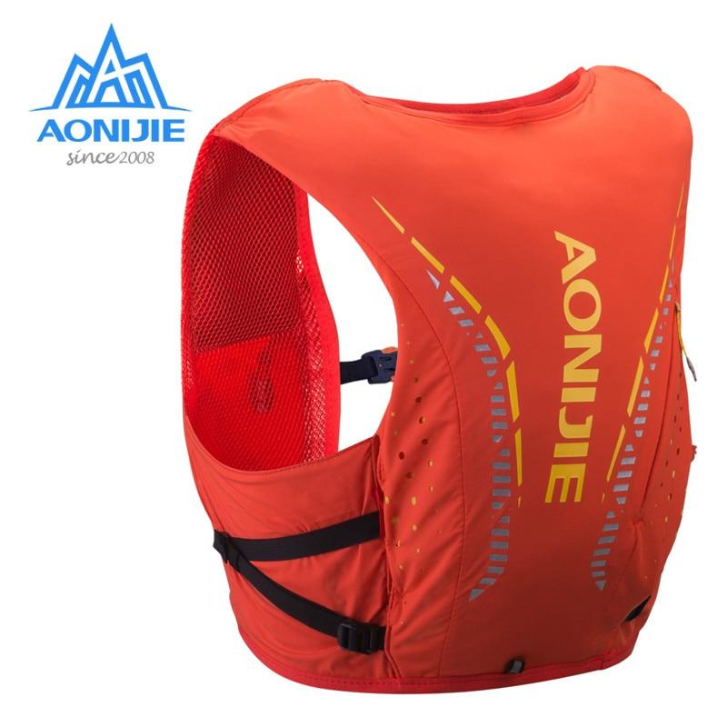 Легкий Рюкзак AONIJIE с гидратацией объемом 8 л, мягкая колба с водным пузырьком для пеших прогулок, бега, марафона, скачек C958