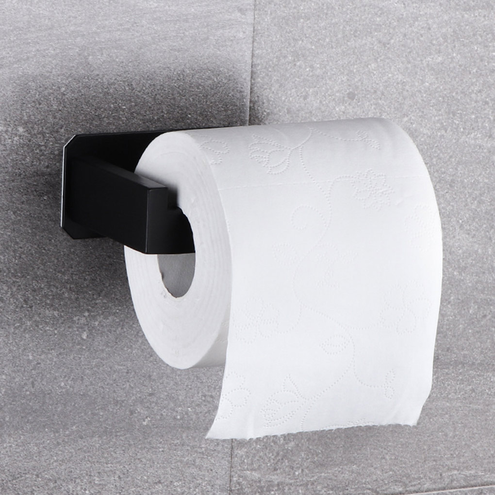 No-Drill Self Adhesive Toilet Paper Holder Stainless Steel Bathroom Kitchen Roll Paper Accessory Tissue Towel Rack Metal Holders self adhesive roll paper holder bathroom toilet paper holder kitchen towel holder rack tissue hanger rack hanging organizer