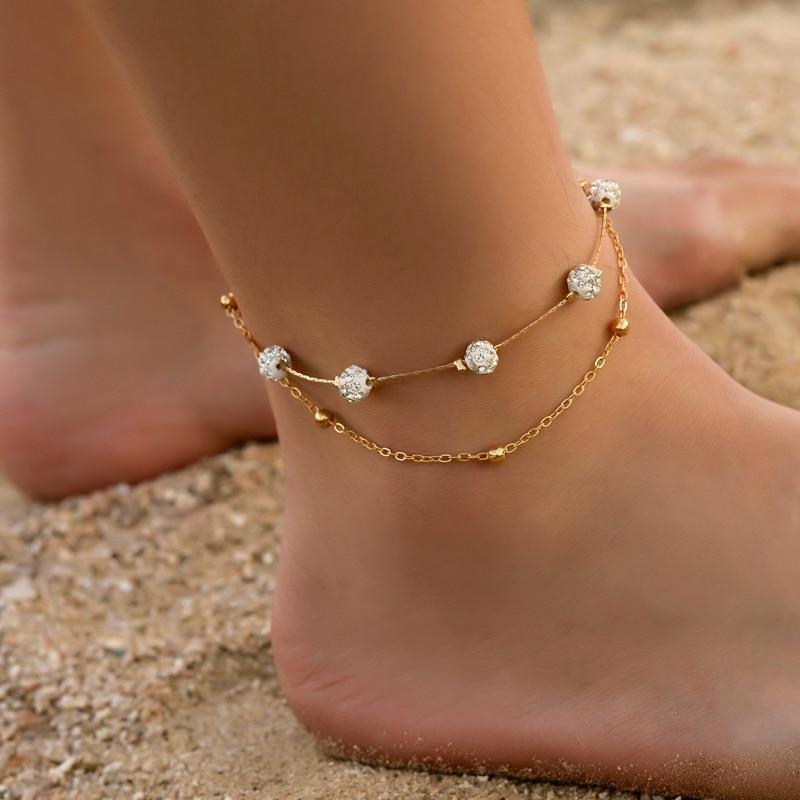 Modyle Bohemia 2pcs/set Anklets for Women Foot Accessories 2019 Summer Beach Barefoot Sandals Bracel