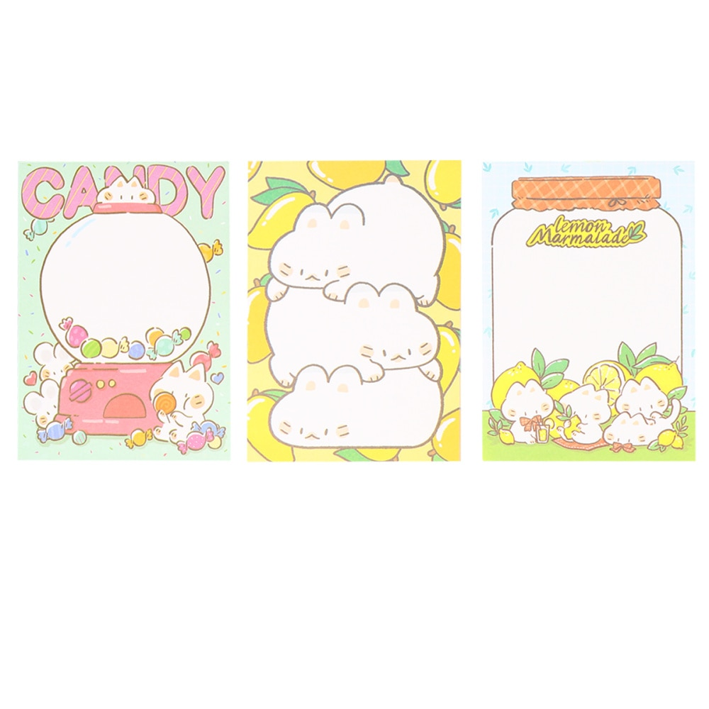 3pcs Large Notepad Tearable Note Pads Memo Pad Students Stationery Note Paper for Office School
