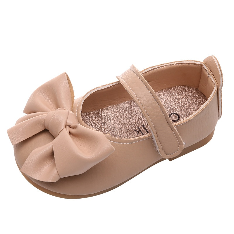 New Spring Female Baby Soft-soled Toddler Shoes Baby Toddler Single Shoes Girls Princess Shoes Girls Butterfly-knot Flats
