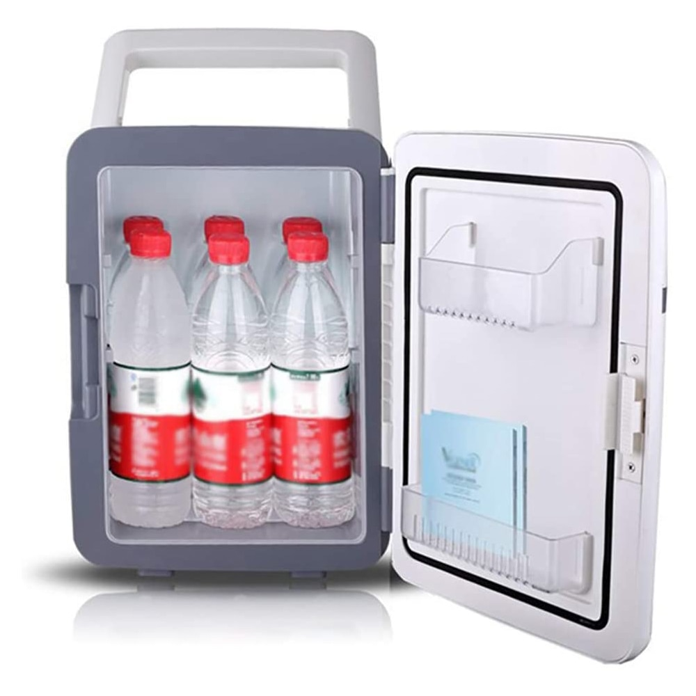 Mini Fridge 10L Small Car Refrigerator AC/DC 12V With Cooling And Heating Function Silent For Private Homes Offices Dormitories