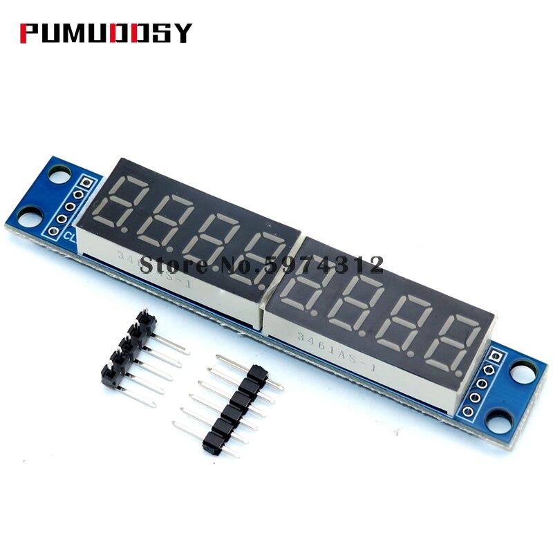 Módulo de Control de pantalla Digital de 10 Uds MAX7219 LED matriz de puntos de 8 dígitos 3,3 V 5V microcontrolador Serial controlador de 7 segmentos