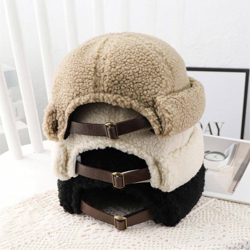 Мужские и женские теплые шапки без полей, зимние уличные толстые шапки-бини с петлей, кепки с дыней в стиле хип-хоп, уличная брендовая дизайн...