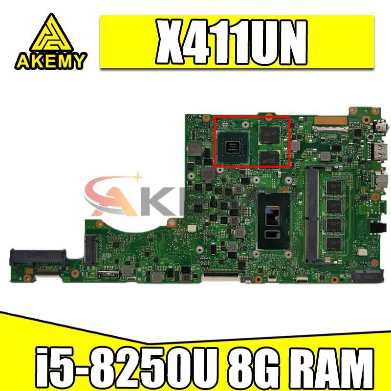 ل ASUS Vivobook S14 اللوحة X411UN X411UNV X411UQ X411UA X411U اللوحة المحمول اللوحة 8GB-RAM i5-8250U MX150 GPU