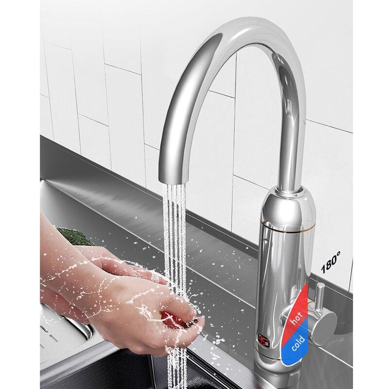 BETOHE 3000W Tankless Electric Water Heater Tap Instantaneous Digital Display Hot Water Heating Facuet Bathroom Kitchen Heaters