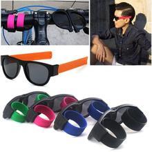 Fancy Slap Wristband Men Polarized Wrist Sunglasses Folding for Women Roll Bracelet 2019 Trend Slaps