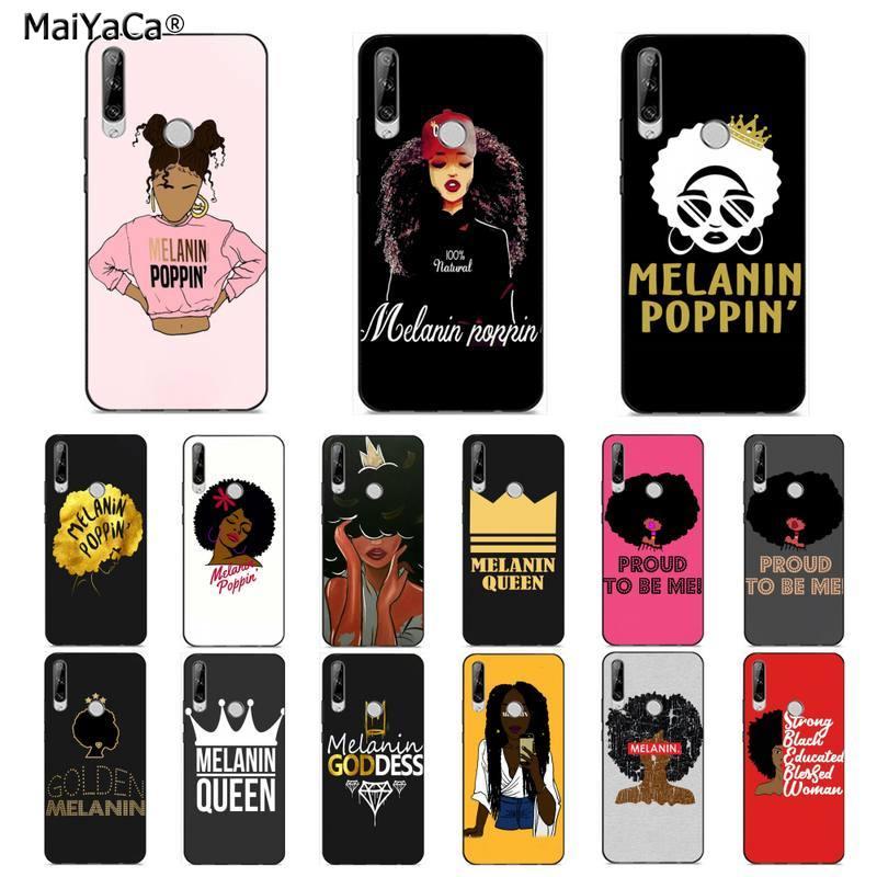 MaiYaCa меланин Poppin Queen афро Черный Девушка волшебный рок чехол для телефона для huawei Y 7S 7 PRO 9 6 Y5 PRIME 2018 Y7 9 5 6 PRO 2019