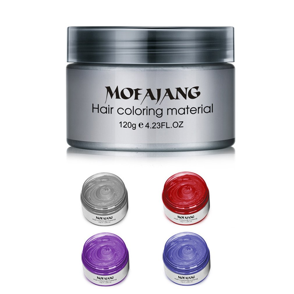 Hair Wax Styling Pomade Disposable Natural Hair Strong Gel Cream Hair Dye For Women Men 120g Portable Pomade